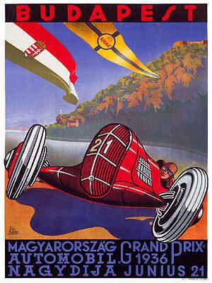 VINTAGE 1965 LAGUNA SECA US GRAND PRIX AUTO RACING POSTER PRINT 36x24 9MIL PAPER