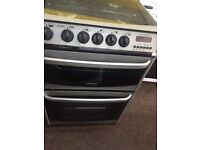 Black & silver canon 60cm gas cooker grill & oven good condition with guarantee bargain