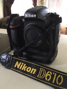 Nikon D610 and Nikon grip