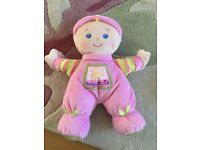 My 1st baby doll as new. Girls doll teddy rattle