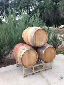 wine barrels and racks for sale