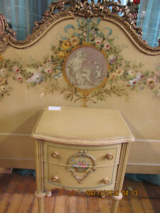 3/4 Bed and night stand- Very fancy bed