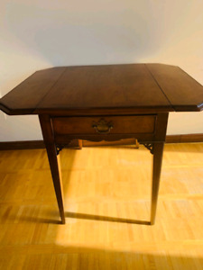 Antique writing table with chair