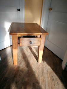 Pair of arts and crafts style end tables