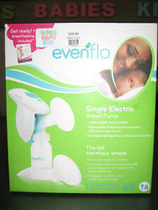 Single Electric Breast Pump (evenflo) with box