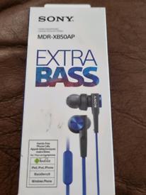 Brand New Sony Extra Bass Earphones