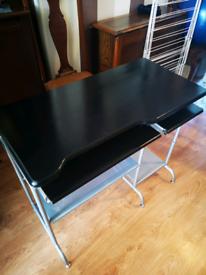 Black and Silver Computer Desk
