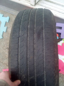 1 tire 225 55 r 19 lots of tred left 75 bucks or best offer