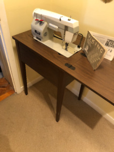 Viking Sewing Machine built into table - like new