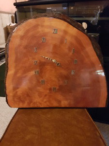 Rustic Wall Clock (slice from tree)
