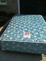 Double bed with box spring