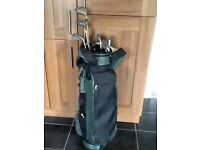 Ladies golf clubs, bag & trolley