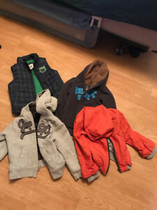 Boys hoodies, vest and jacket.