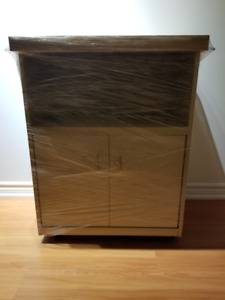 Mobile Kitchen Cabinet With Counter For Sale!