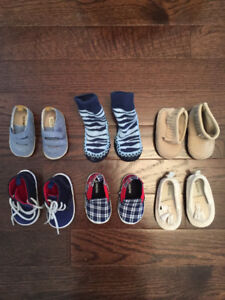 Baby boys shoes! Gap, Old Navy, Moccasins- Size 0-6 months
