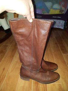 Real leather boots from Town Shoes