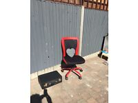 Retro funky desk chair 80's Mancave office furniture boys room