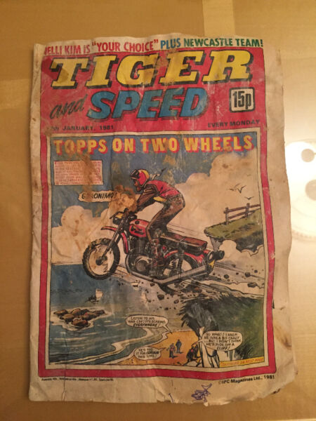 """Tiger and Speed"" Magazine 17th January 1981 issue"