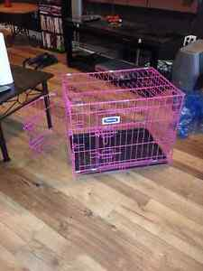 Small pink dog crate *** REDUCED****