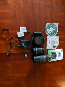 Canon Rebel T2i 550D Body and lens