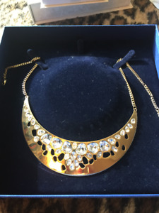 Swarovski Golden statement necklace
