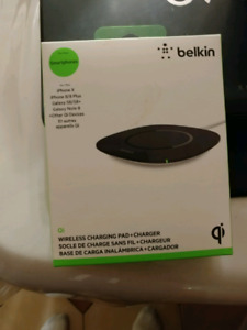 Belkin wireless charging pad brand new never used