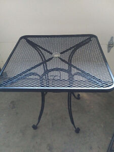 Metal patio table
