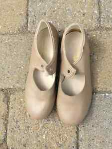 Tap shoes for girls beige