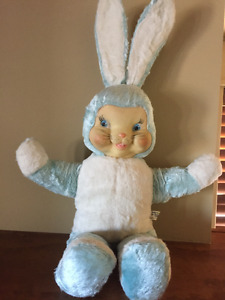 1950's Reliable Blue Bunny Stuffed 27 inches tall