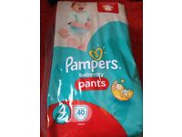 Pampers pants new pack size 4 (40)