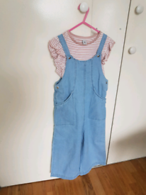 Age 7, Girls, Tshirt and dungerie Set