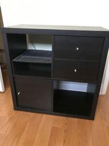 IKEA KALLAX Shelf Unit with with 2 drawers, door insert