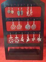 Earrings on 925 Silver Hooks