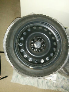215/45/17 Michelin Winter Tires with Steelies