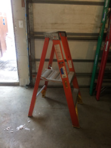 Werner industrial ladder