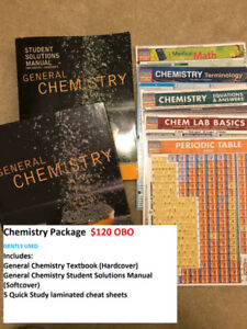 General Chemistry Textbook Package w/ reference sheets