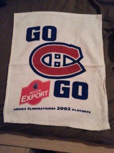 Serviette du canadien de Montréal, petite serviette promotionnel