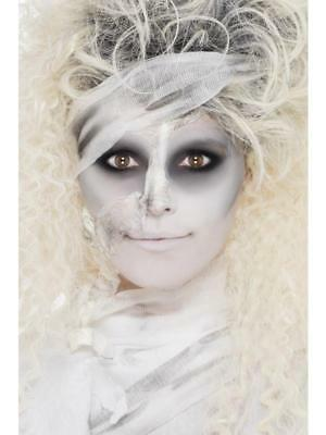 MAKEUP MUMMY HALLOWEEN/ HORROR SPECIAL EFFECTS FACE PAINT KIT FANCY DRESS - Mummy Halloween Face