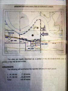 102 Acres River Front Recreational Land east of Fort McMurray