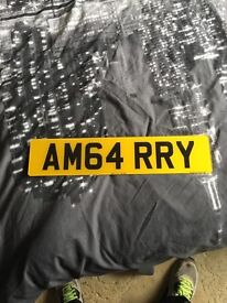 AM GARRY private registration £1470 on plates4less private plate reg AM 64RRY