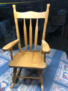 Wooden Child's Rocking Chair