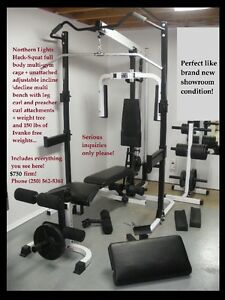 Complete home gym (brand new condition)