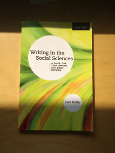 Writing in Social Science a guide for term papers & book reviews
