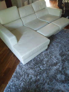 Leather Sectional Lounge Sofa