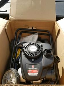 "Brand new 20"" gas lawn mower"