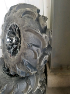 Polaris rzr wheels and tires get ready for may long mud!
