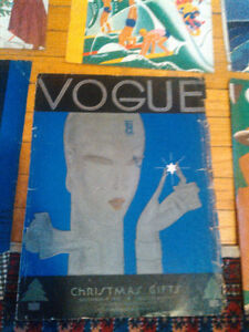 Art Deco Vogue Cover Xmas Christmas Blue Silver Benito artist o