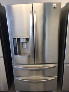 """LG 36"""" 4 DOOR STAINLESS FRIDGE WITH WATER AND ICE"""