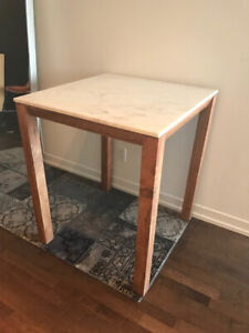 """CB2 Palate Marble 36"""" High Counter Table"""