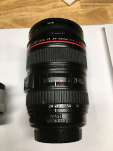 "Canon 24-105 ""L"" Series Lens and Canon 1.4x Teleconverter"